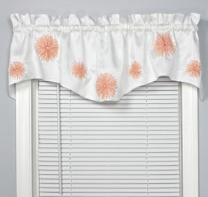 Rhinestone Bloomers Rod Pocket M Valance Apricot - - Marburn Curtains