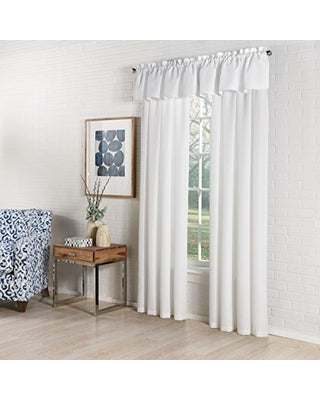 Ribcord Rod Pocket Panel - 055x063   White  C40800- Marburn Curtains