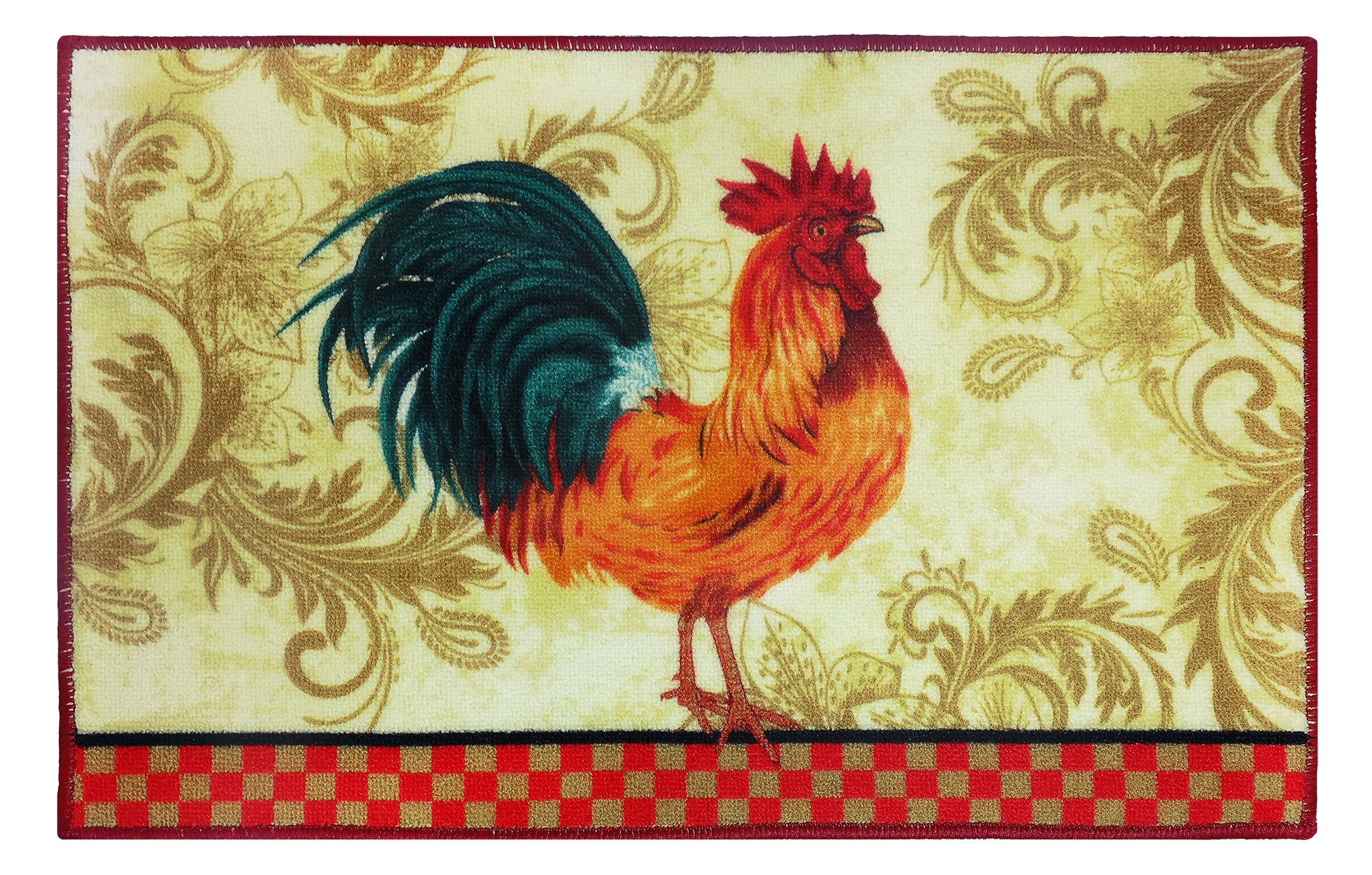 """Rooster Kitchen Rug 18""""x 30"""" – Marburn Curtains"""