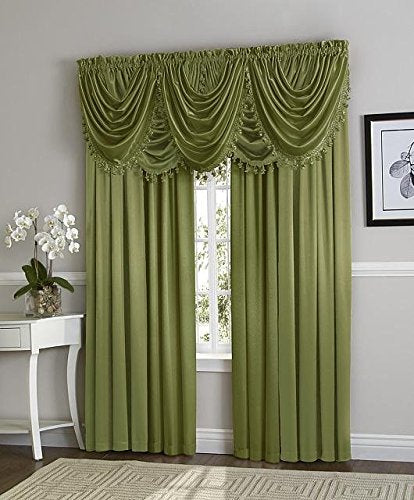 Hilton Rod Pocket Panel/Waterfall Valance - Panel Sage 054x084 C27956- Marburn Curtains