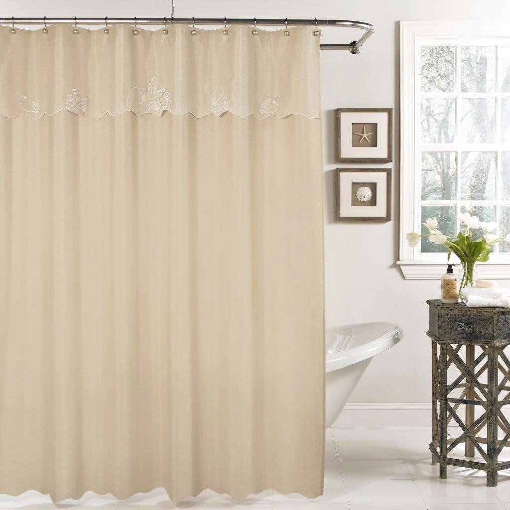 Sanibel Fabric Shower Curtain