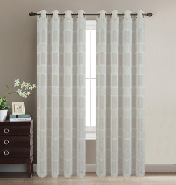 Scott Grommet Panel - Beige C42062- Marburn Curtains
