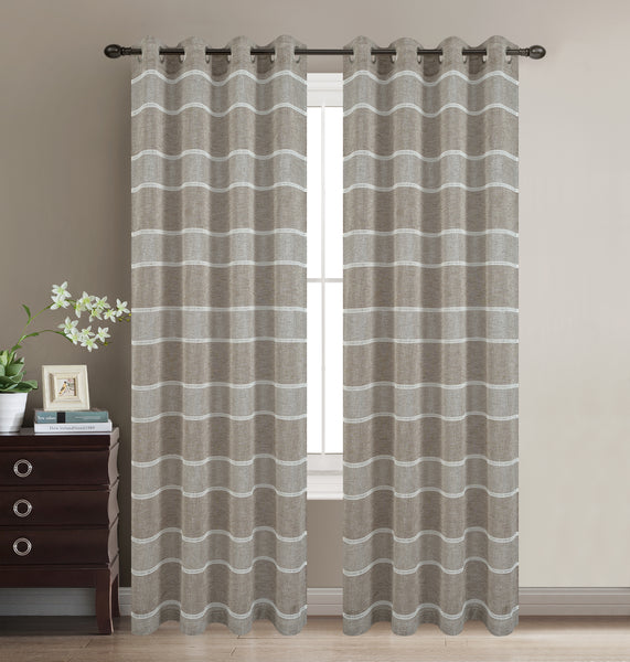 Scott Grommet Panel - Bronze C42064- Marburn Curtains