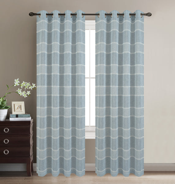 Scott Grommet Panel - Light Blue C42066- Marburn Curtains