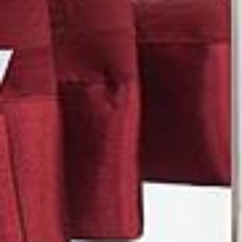 Silhouette Sheer Rod Pocket Ascot Valance - Ascot Valance 040x025 Burgundy C32063- Marburn Curtains