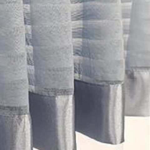 Silhouette Sheer Rod Pocket Panel - Panel   060x063 Blue C32221- Marburn Curtains
