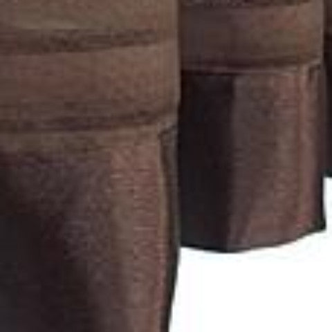 Silhouette Sheer Rod Pocket Panel - Panel   060x063 Chocolate C32223- Marburn Curtains