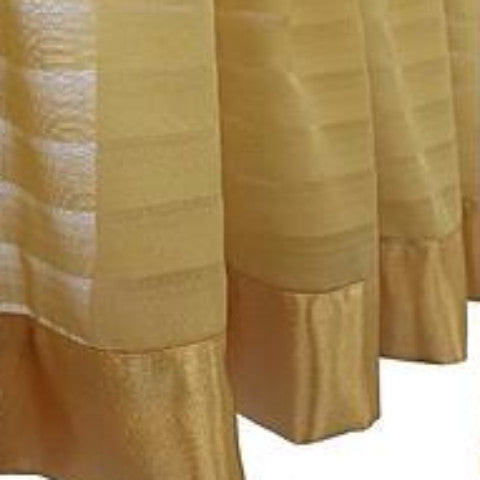 Silhouette Sheer Rod Pocket Ascot Valance - Ascot Valance 040x025 Gold C32066- Marburn Curtains