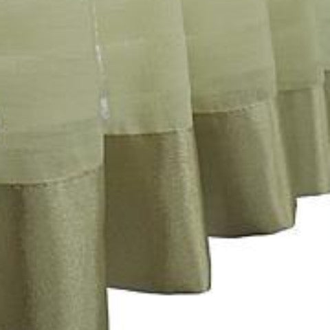 Silhouette Sheer Rod Pocket Ascot Valance - Ascot Valance 040x025 Sage C32067- Marburn Curtains