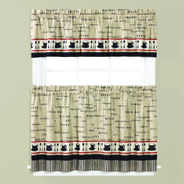 Café Rod Pocket Valance - - Marburn Curtains