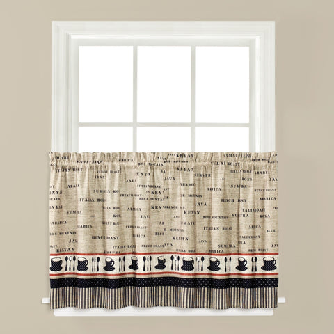 Café Rod Pocket Tier - - Marburn Curtains