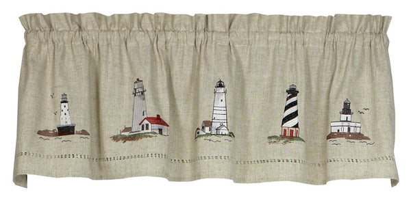 Snapshots Lighthouses Valance - Valance 058x014 C40769- Marburn Curtains