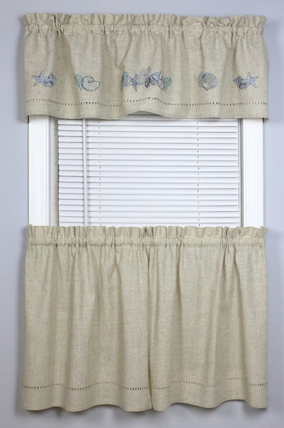 Snapshots Tidal Pool Valance - - Marburn Curtains