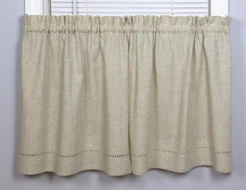 Snapshots Tidal Pool Valance - Tier 058x024 Linen C40771- Marburn Curtains