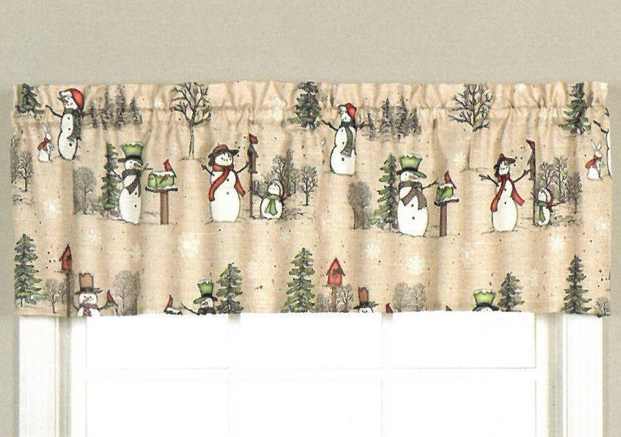 Snowman Land Holiday Valance