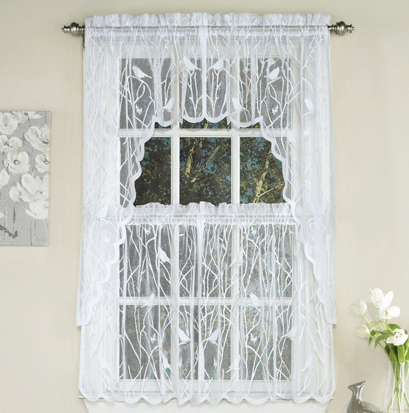 Songbird Lace Rod Pocket Tier - - Marburn Curtains