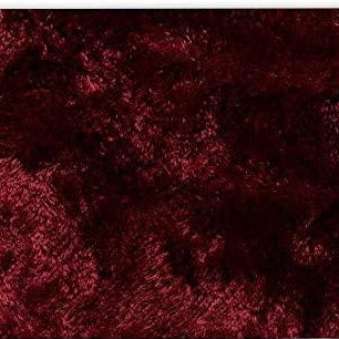 St. Lucia Plush Bath Rug Contour - Contour 020x020 Burgundy C41343- Marburn Curtains