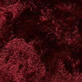 St. Lucia Plush Bath Rug Lid Cover - Lid Cover 018 Burgundy C41355- Marburn Curtains