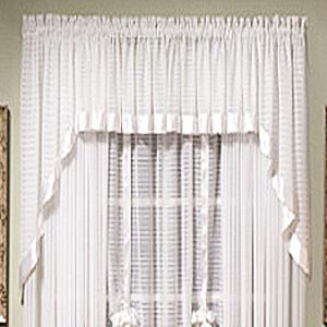 Silhouette Sheer Swag - Swag 060x038 White C32213- Marburn Curtains
