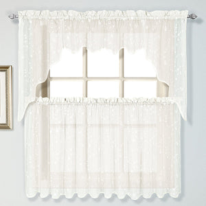 Savannah Rod Pocket Swag - 051x038 Oyster C25935- Marburn Curtains