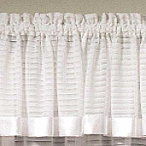Silhouette Sheer Rod Pocket Tailored Valance - Tailored Valance 060x015 White C32206- Marburn Curtains