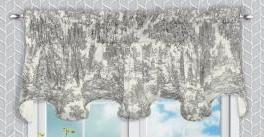 Victoria Park Toile Rod Pocket Bradford Valance - Bradford Valance 070x015 Grey C41209- Marburn Curtains