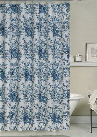 Bamboo Weave Fabric Shower Curtain-Vintage Blue - - Marburn Curtains
