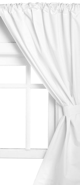 Vinyl Bathroom Window Curtain - 045x036 White C30239- Marburn Curtains