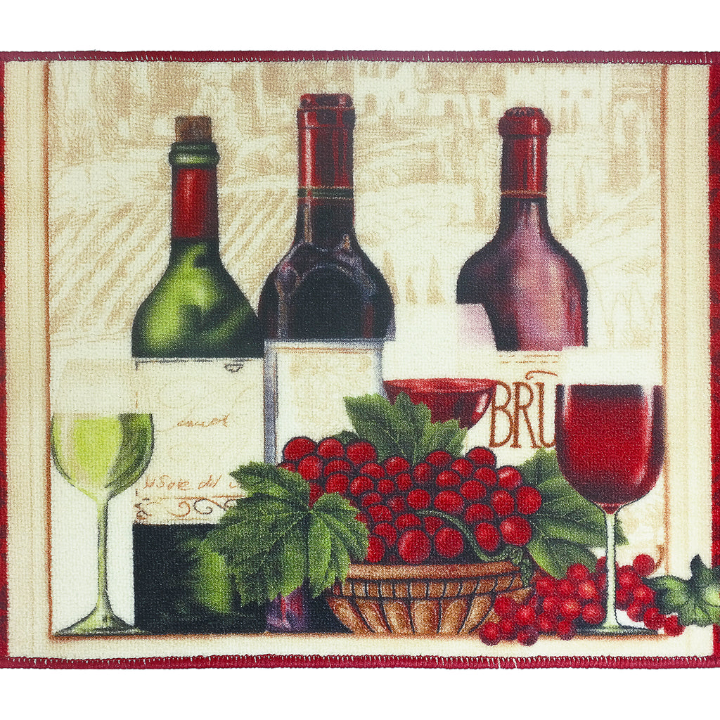 "Wine Kitchen Rug 18""x 30"""