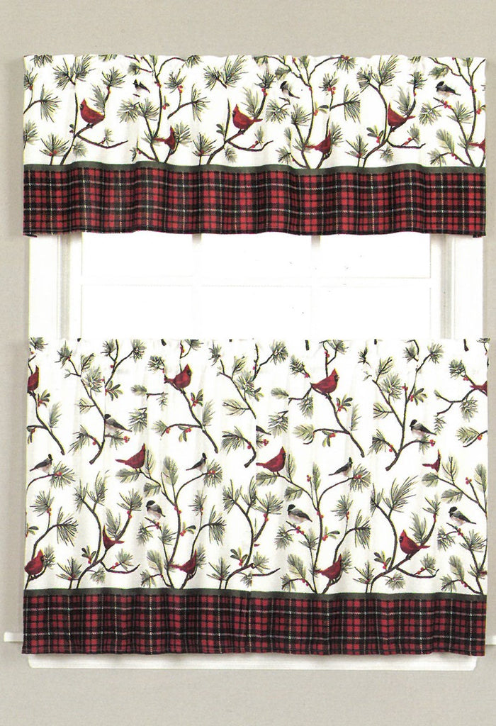 Winter Birds Valance