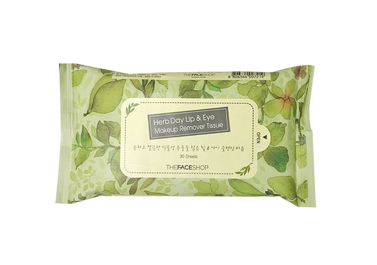 HERB DAY LIP&EYE MAKEUP REMOVER TISSUE-30 SHEETS-70ML