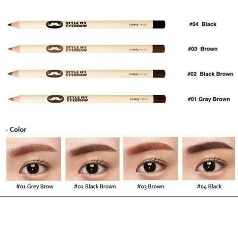 LOVELY MEEX STYLE MY EYEBROW BLACK BROWN