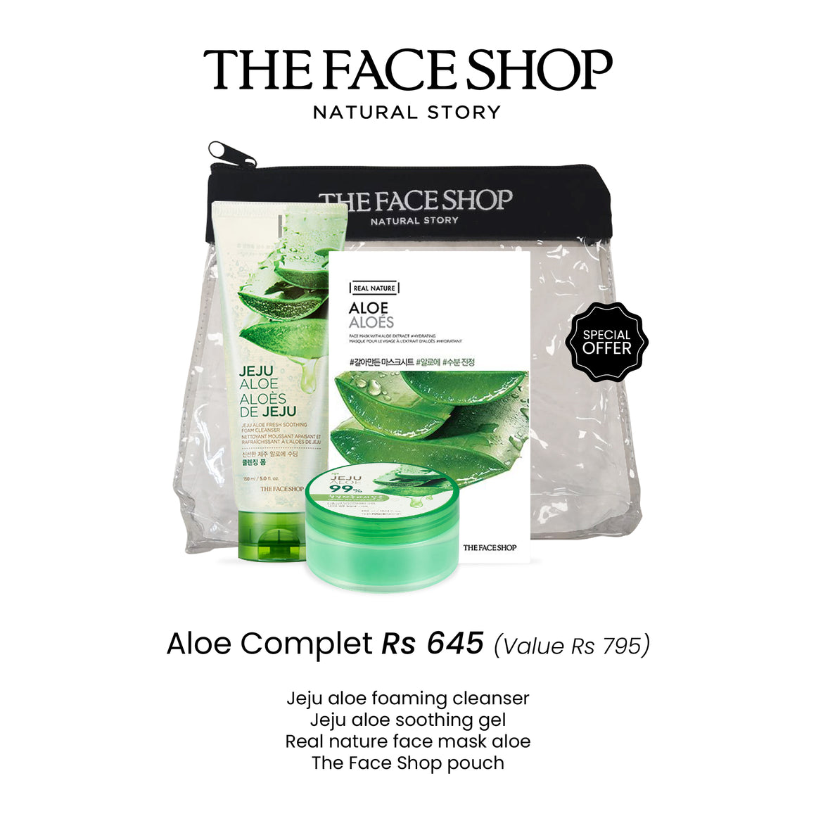 Aloe Set (Normal price Rs 645)