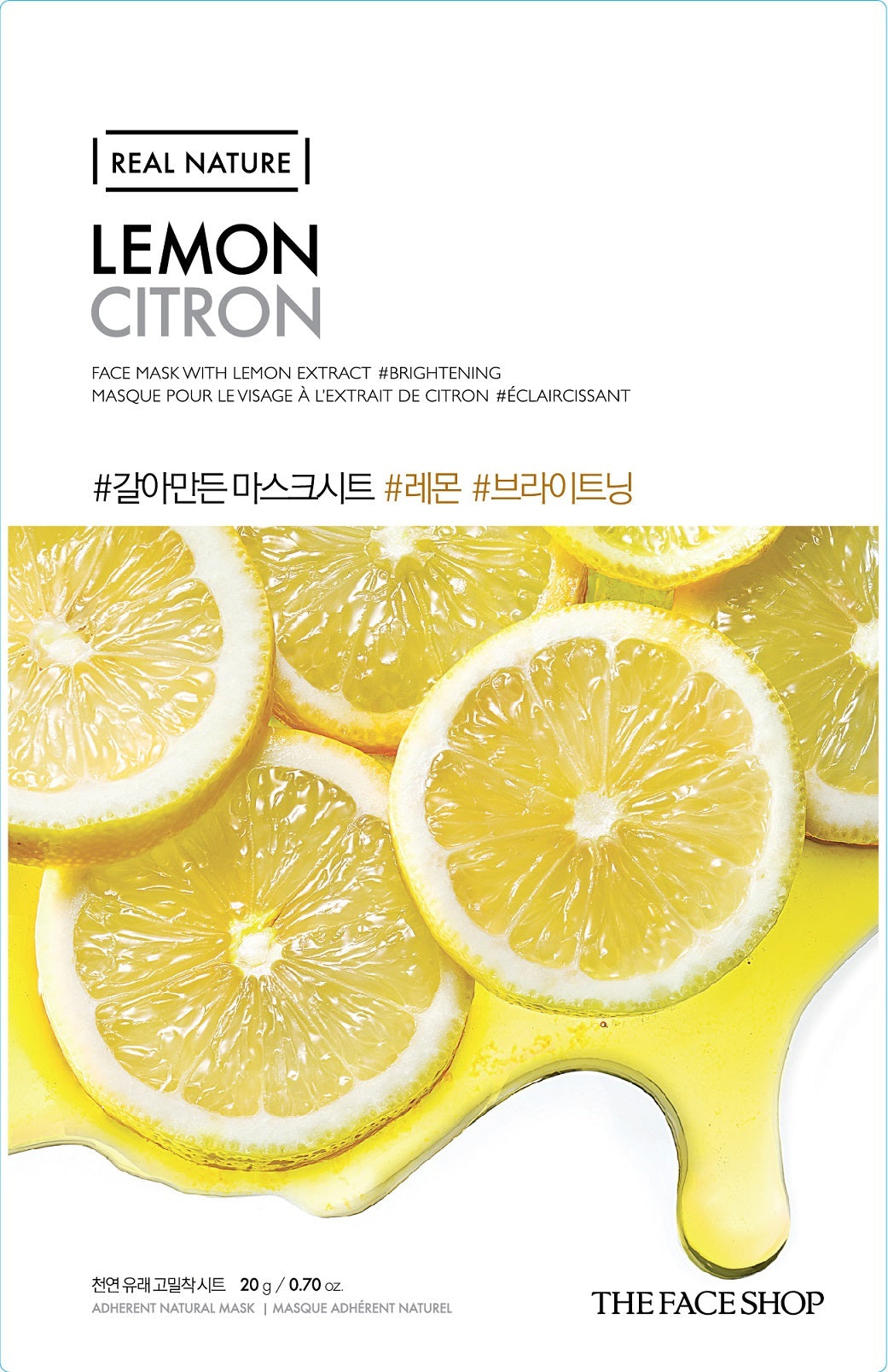 REAL NATURE LEMON FACE MASK - 20G