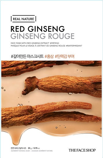 REAL NATURE RED GINSENG FACE MASK - 20G