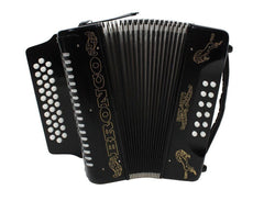Rizatti Bronco RB31GB Diatonic Accordion - Black - Key G/C/F - B Stock Save $70
