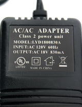 Class 2 AC Power Transformer 18VAC 830mA UL Listed