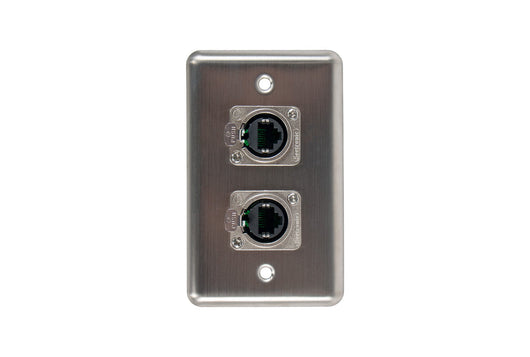 OSP D-2-2E Duplex Wall Plate w/ 2 Tactical Ethernet