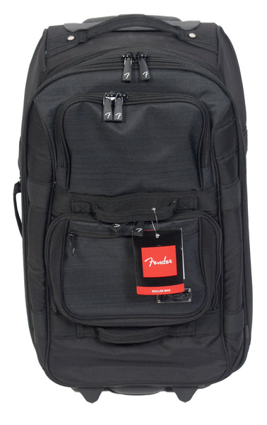 Fender 918-8894-506 Genuine Fender Black Logo Roller Travel Bag Suitcase