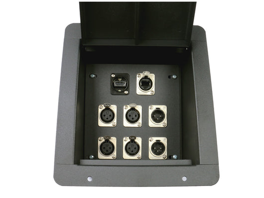 Elite Core FB8-4XF2XM1H1E Recessed Floor Box loaded