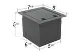 Elite Core FB8-4XF2XM2E Recessed Floor Box loaded