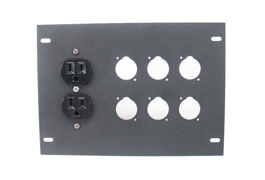 Elite Core FBL-PLATE-6+AC Plate for FBL Floor Box With AC Duplex - no connectors