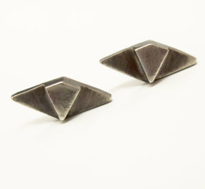 Deco Post Earring- sterling silver