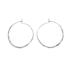 "Hammered ""Water"" Hoops"