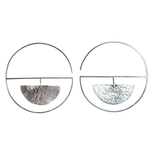 Reflected Eclipse Hoop Earrings