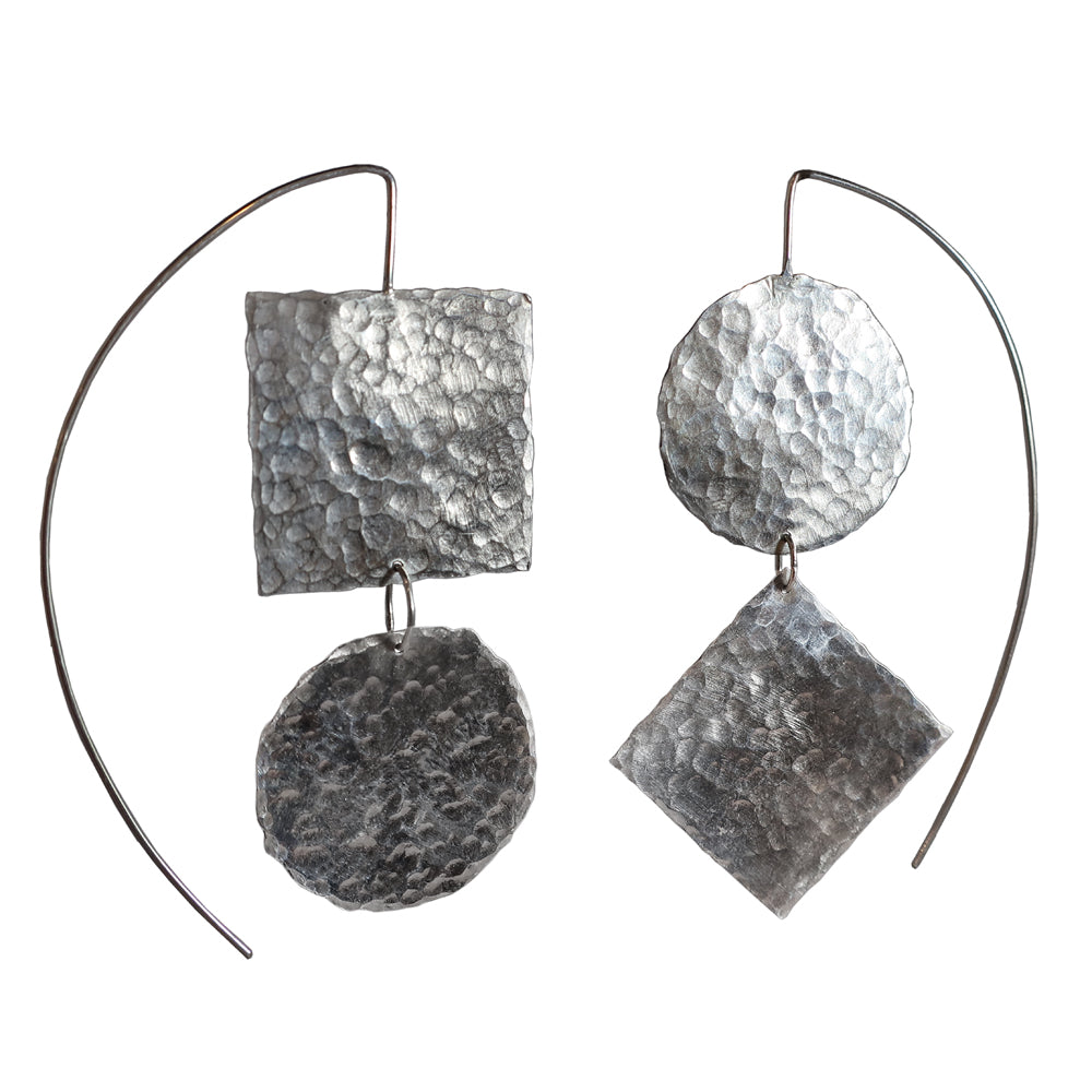 Point and Line to Plane Earrings