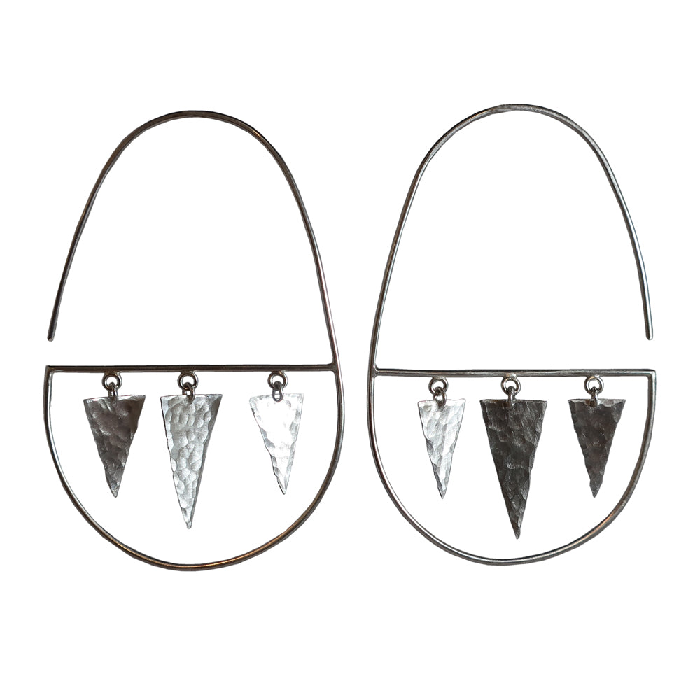 Lightning Oval Hoops