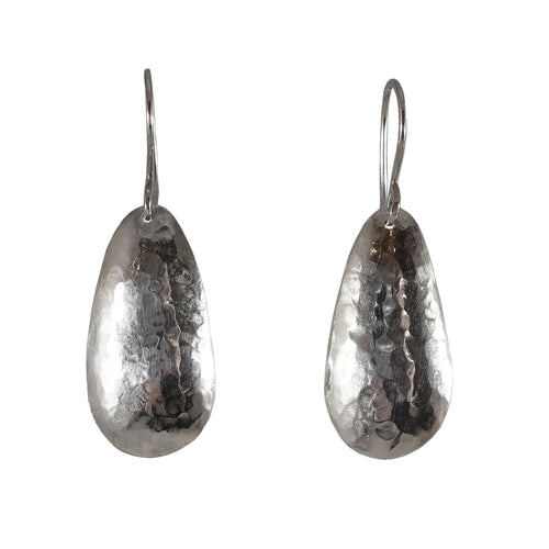 Hammered OrganicDrop Earrings