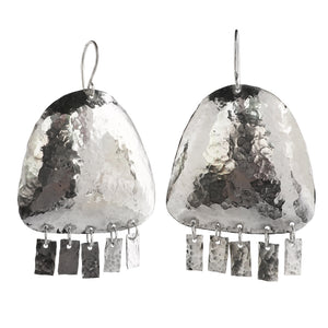 Jellyfish Hammered Dangle Earrings