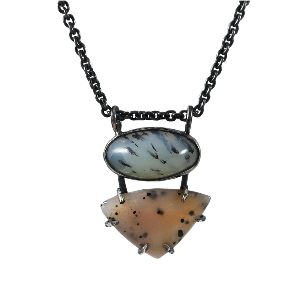 Dendratic Agate and Opal Necklace